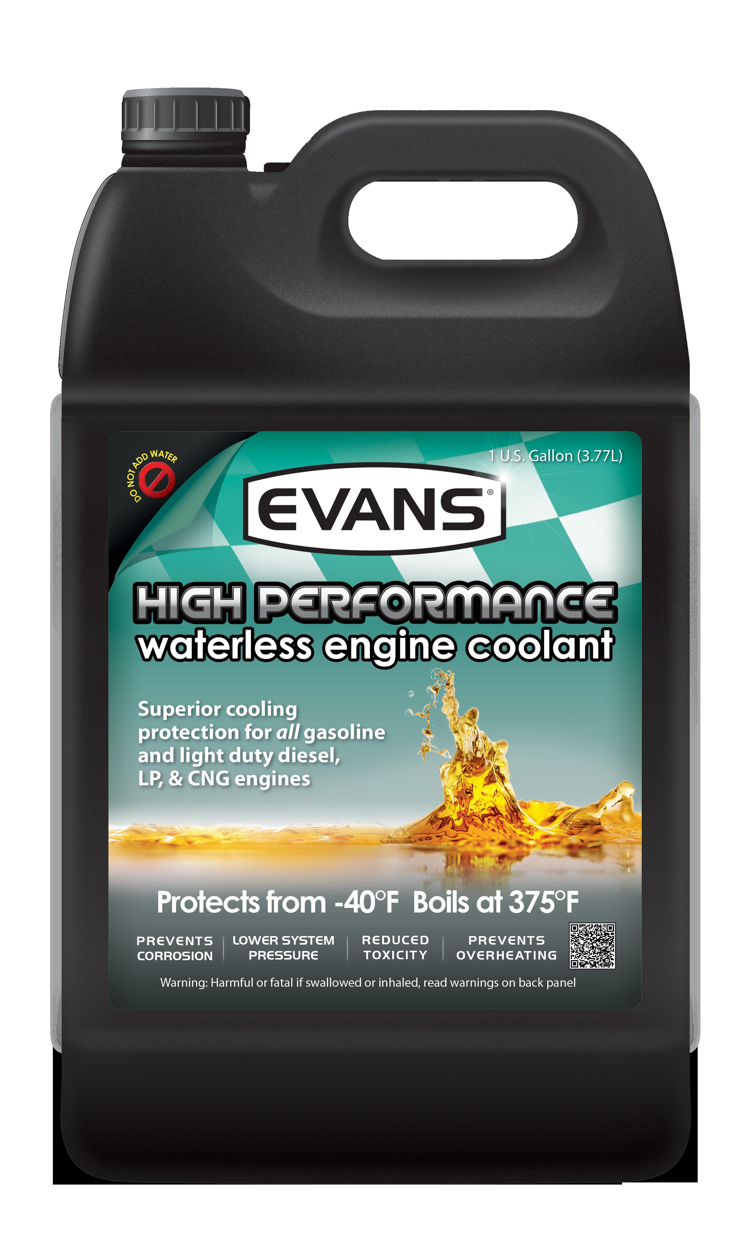 High Performance Coolant Evans Old Engine